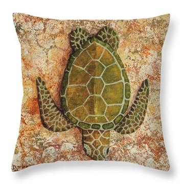 Throw Pillow featuring the painting Honu Maui 2 by Darice Machel McGuire