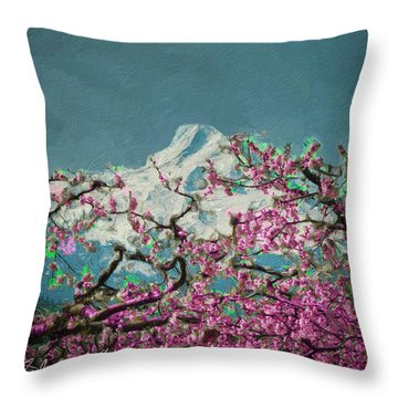 Hood Blossoms Throw Pillow
