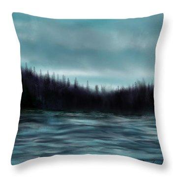 Hood Canal Puget Sound Throw Pillow