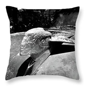 Hood Ornament Detail Throw Pillow