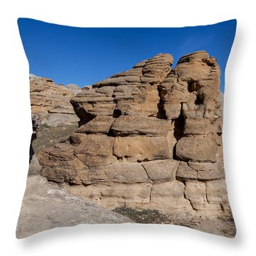 Throw Pillow featuring the photograph Hoodoo Stack by Fran Riley