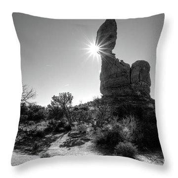 Hoodoo Sunburst Throw Pillow
