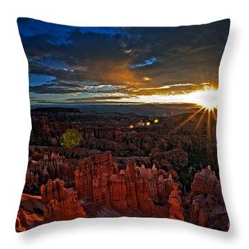 Hoodoos At Sunrise Bryce Canyon National Park Throw Pillow