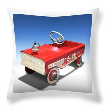 Throw Pillow featuring the photograph Hook And Ladder Peddle Car by Mike McGlothlen