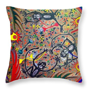 Hookah Monkeys - Jinga Monkeys Series Throw Pillow