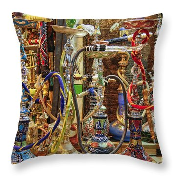 Hookahs Throw Pillow
