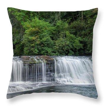 Throw Pillow featuring the photograph Hooker Falls by Steven Richardson