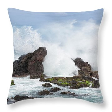 Hookipa Point Throw Pillow