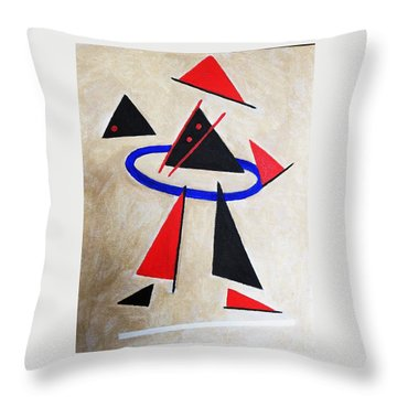 Hoola Hoop Throw Pillow