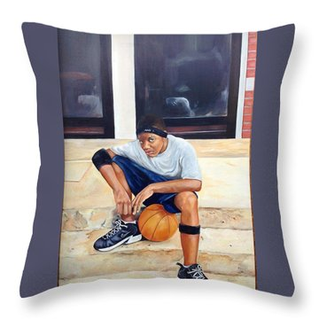 Hoop Squad Throw Pillow
