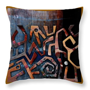 Hooray Throw Pillow by Joan Ladendorf