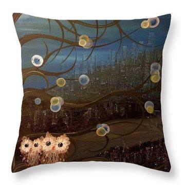 Hoo's City Original Throw Pillow