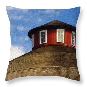 Throw Pillow featuring the photograph Hoosier Cupola by Sandy MacGowan