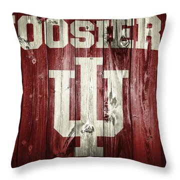 Hoosiers Barn Door Throw Pillow