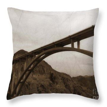Hoover Dam Bridge Throw Pillow
