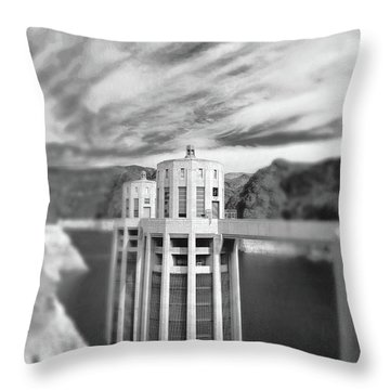 Hoover Dam Intake Towers No. 1-1 Throw Pillow