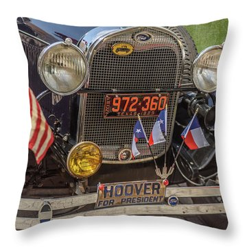 Hoover Era Ford Throw Pillow