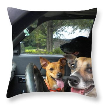 Throw Pillow featuring the photograph Hop In I'll Drive by Diannah Lynch