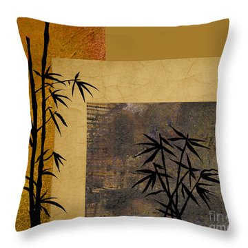 Throw Pillow featuring the digital art Hope And Bamboo by Nola Lee Kelsey