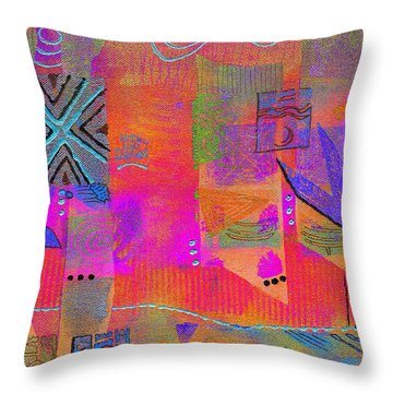 Throw Pillow featuring the mixed media Hope And Dreams by Angela L Walker