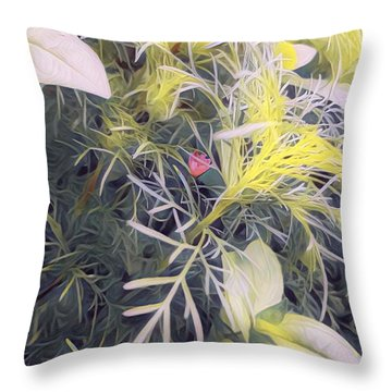 Hope Buds Throw Pillow