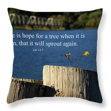 Hope For A Tree Throw Pillow