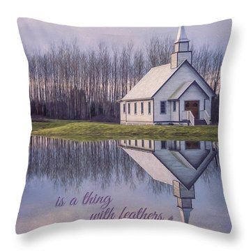 Hope Is A Thing With Feathers - Inspirational Art Throw Pillow by Jordan Blackstone