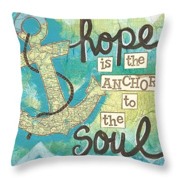 Hope Is The Anchor Throw Pillow