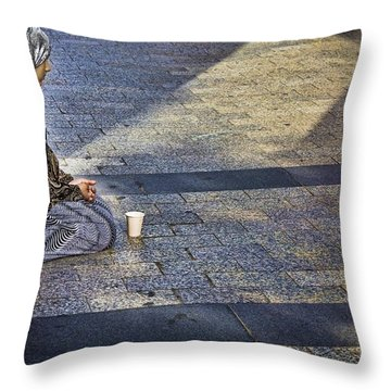 Hope On Champs-elysee Throw Pillow by John Hansen