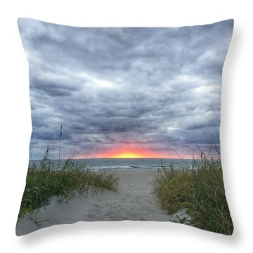 Hope On The Horizon Delray Beach Florida  Throw Pillow