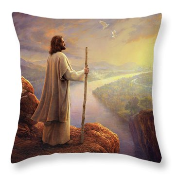 Throw Pillow featuring the painting Hope On The Horizon by Greg Olsen