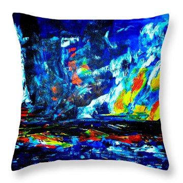 Throw Pillow featuring the painting Hope by Piety Dsilva