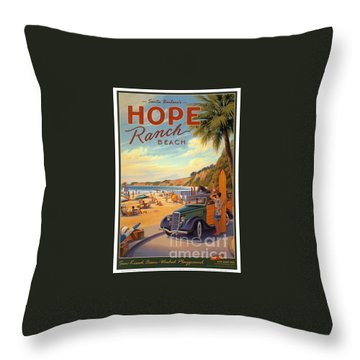 Hope Ranch Beach Throw Pillow