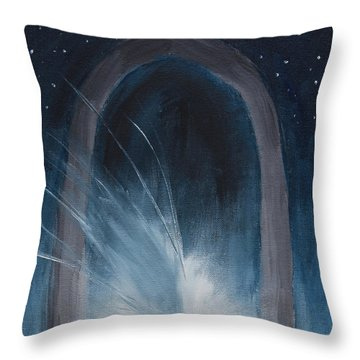 Hope Springs Into Stars Throw Pillow