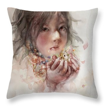 Throw Pillow featuring the digital art Hope by Te Hu