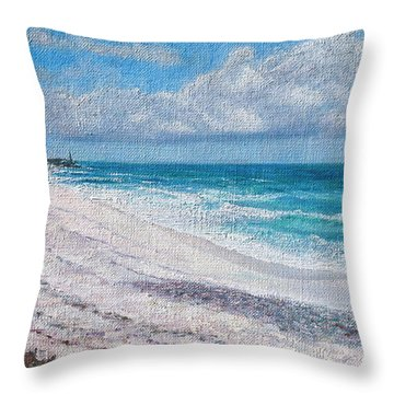 Hope Town Beach Throw Pillow