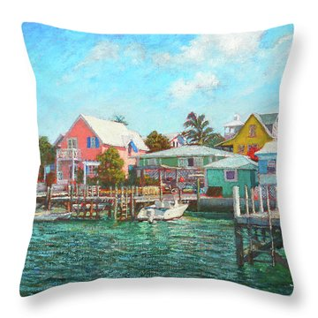 Hope Town By The Sea Throw Pillow