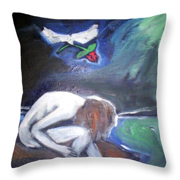 Throw Pillow featuring the painting Hope  by Winsome Gunning