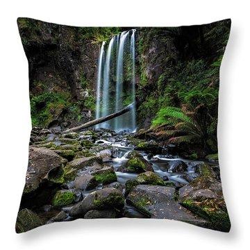 Hopetoun Falls Throw Pillow by Mark Lucey