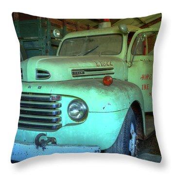 Hopewell Fire Truck Throw Pillow