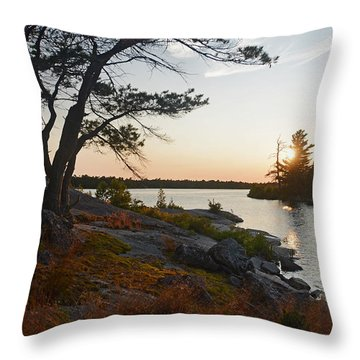Hopewell Bay Island Wild Grass Sunset-1 Throw Pillow