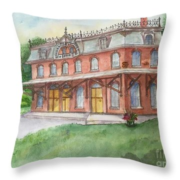 Hopewell Nj Train Station Throw Pillow