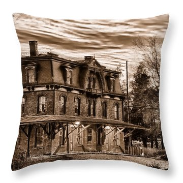 Hopewell Station Throw Pillow