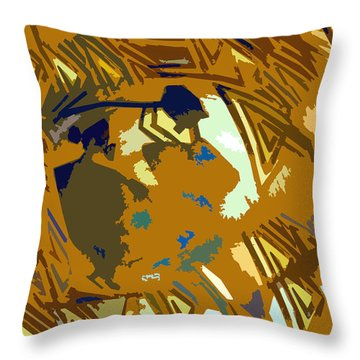 Hopi Flute Player Throw Pillow by David Lee Thompson