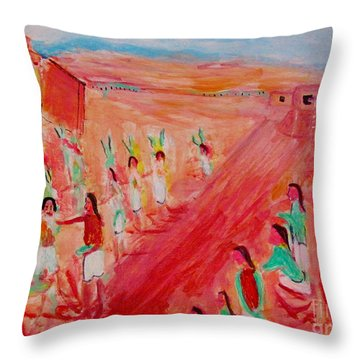 Hopi Indian Ritual Throw Pillow