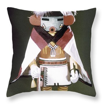 Hopi Kachina Doll Throw Pillow by Granger