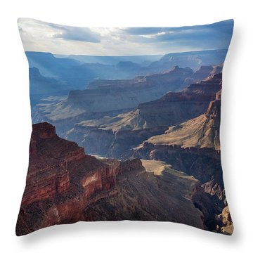 Hopi Point Sun Rays Throw Pillow by Beverly Parks