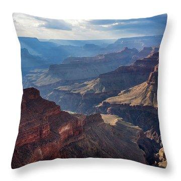 Hopi Point Sun Rays Throw Pillow