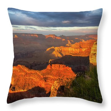 Throw Pillow featuring the photograph Hopi Point Sunset 1 by Arthur Dodd