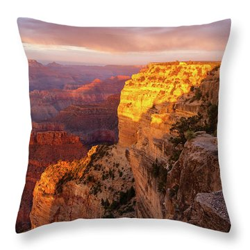 Throw Pillow featuring the photograph Hopi Point Sunset 2 by Arthur Dodd